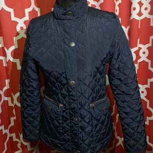 Zara girls navy blue coat